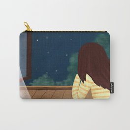 Elegant Gril In Room Drawing Carry-All Pouch