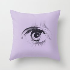 holding back the tears o2 Throw Pillow