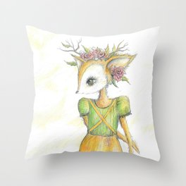 My Deer Throw Pillow