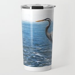 Great Blue Heron on the Pacific Coast in Costa Rica Travel Mug