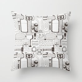 alcoholic pattern Throw Pillow