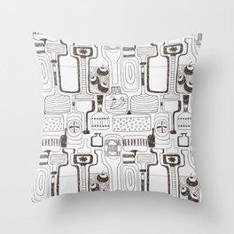 alcoholic pattern Throw Pillow