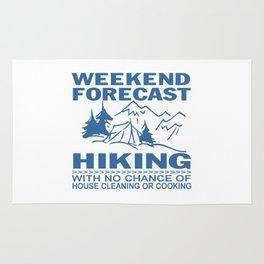 Weekend forecast hiking Rug