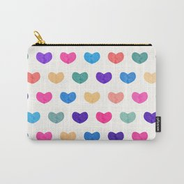 Colorful Cute Hearts III Carry-All Pouch