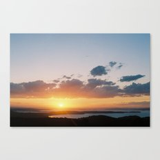 sun over water Canvas Print