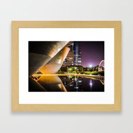 Reflective Lake in Song-Do Framed Art Print