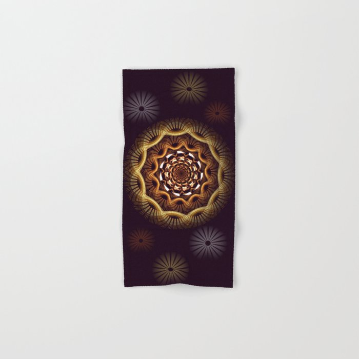 Golden curves and tribal patterns Hand & Bath Towel