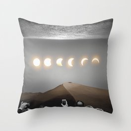 night time spectacle Throw Pillow