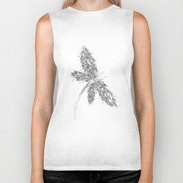 fly light butterfly animals black and white shirt son Biker Tank