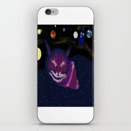 even kitties can dream of space iPhone Skin