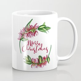 Merry Christmas - An Australian Native Floral Wreath Coffee Mug