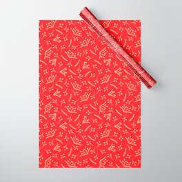 Christmas Branches and Berries in red and yellow Wrapping Paper