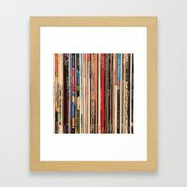 Alt Country Rock Records Framed Art Print