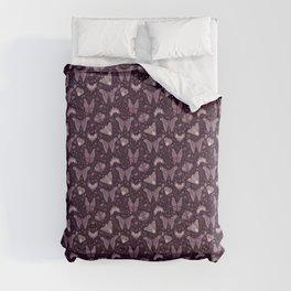 Purple Moths Comforters