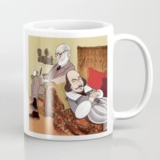Freud analysing Shakespeare Mug