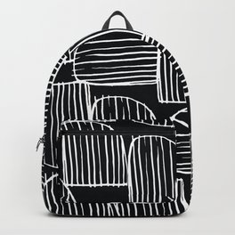 Mid-Century Modern 1950's Black White Abstract Print Backpack