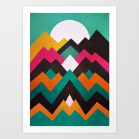 moonrise Art Prints featuring Moonrise by Elisabeth Fredriksson