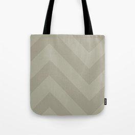 Tan Chevron Print Tote Bag