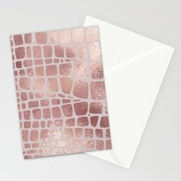 Rose gold abstract Stationery Cards