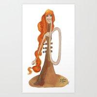 trumpet Art Prints featuring Trumpet by Forjadora d'hores