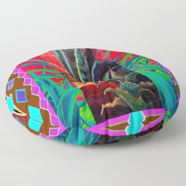 COLORFUL DESERT AGAVE CACTUS PAINTING Floor Pillow