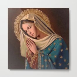 Mother Of God Mary & Baby Jesus Metal Print