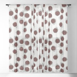 Raspberries Sheer Curtain