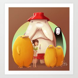 Studio Ghibli - Radish Spirit Art Print