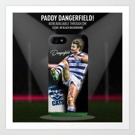 Patrick Dangerfield AFL Phone Case Art Print