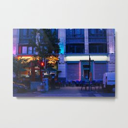 The City of Brussels at night Metal Print