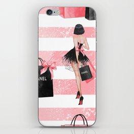 Fashion girl shopping iPhone Skin