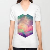 spires V-neck T-shirts featuring gyt th'fykk yyt by Spires
