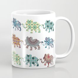 Elephant Walk Pattern Coffee Mug