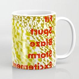 Typographic eruption Coffee Mug