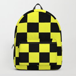Black and Yellow Checkerboard Pattern Backpack