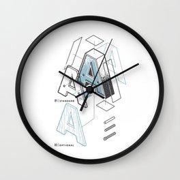 The Exploded Alphabet / A Wall Clock