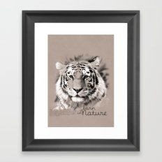 Tiger (BornInNature) Framed Art Print