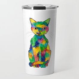 Rainbow Cat Travel Mug