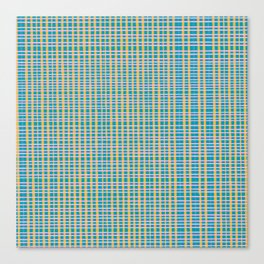 Plaid Lines in Blue Canvas Print