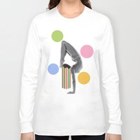 yoga Long Sleeve T-shirts featuring Yoga by Lerson