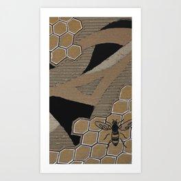 Cardboard honey bee Art Print