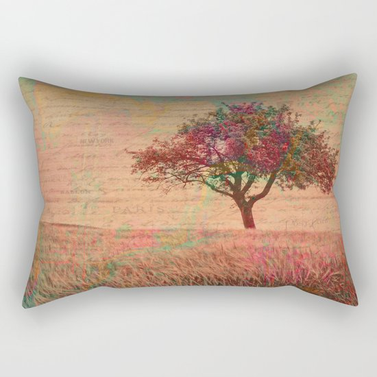 The Kissing Tree, Landscape Art Rectangular Pillow