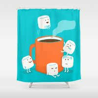 budi satria kwan Shower Curtains featuring Cannonball by Picomodi
