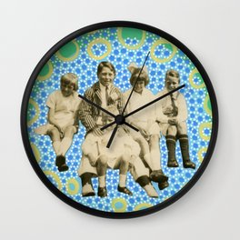 Playing With Soap Bubbles Wall Clock