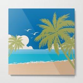 Summer Peace on Palm Island Beach Metal Print