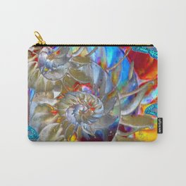SURREAL MODERN ART BLUE BUTTERFLIES ABSTRACT Carry-All Pouch