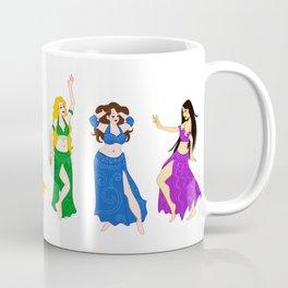 Belly Dancers - Rainbow Colors Coffee Mug