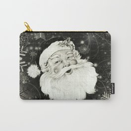 Vintage Santa Claus with snowflakes Carry-All Pouch