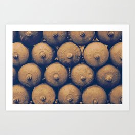 Gas bottles Art Print