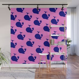 Little Whale (pink) Wall Mural